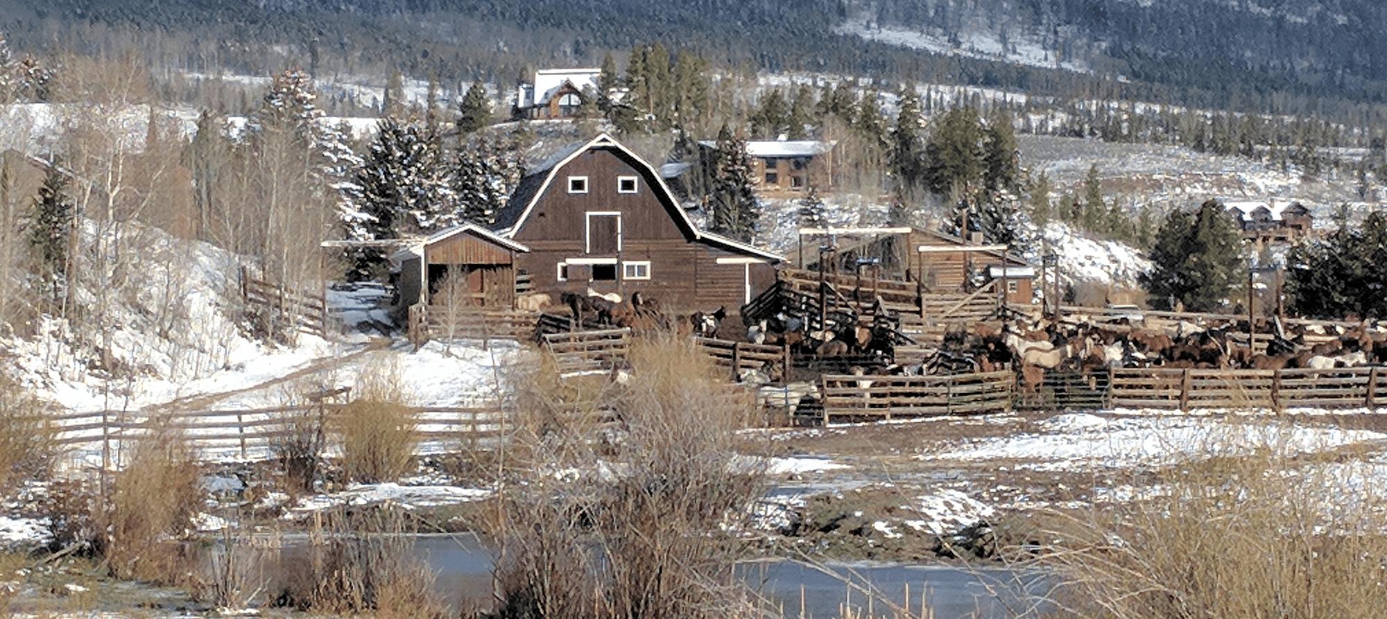 A view of C Lazy U Ranch, April 2017.